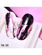 Фольга для дизайна ногтей лиловый металлик №36