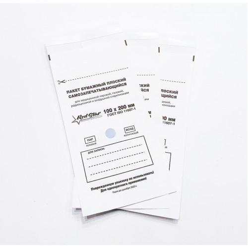 Крафт-пакеты Белые 100x200 Red Star 1 шт шт в Тюмени