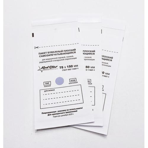 Крафт-пакеты Белые 75x150 Red Star 1 шт в Тюмени