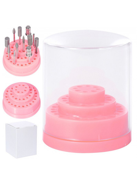 Подставка для боров и фрез 2,35 (48 шт.) Розовая