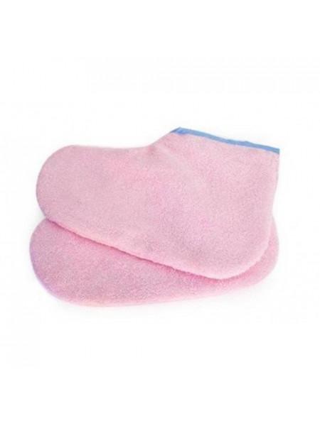 Носки д/парафинотерапии махровые розовые JN